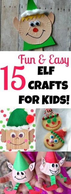15 Elf Crafts for Kids! These fun and easy crafts are perfect for toddlers, preschoolers and bigger kids too! Letters from Santa || www.easyfreesantaletter.com