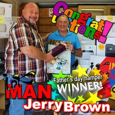 #Congratulations to the @INKman #FathersDay hamper #winner Jerry Brown, thank you for your patronage!