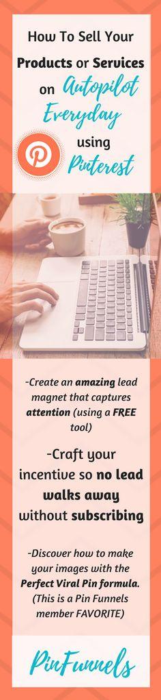 Grow Your Business Using Pinterest Marketing - PinFunnels - Make Money Online Using Pinterest For Business http://www.marketingsolved.com/jtness/4