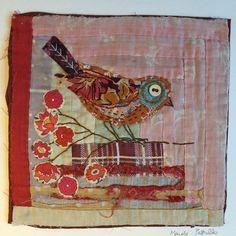 Oiseau. Brodé et Applique sans encadrement sur par MandyPattullo