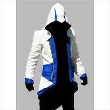 BIG Hot Assassins Creed 3 Conner Kenway Jacket Hoodie Coat Cloak Cosplay Costume