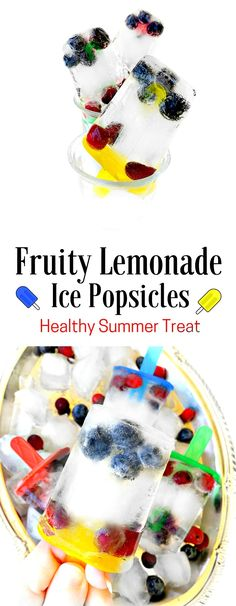 Fruity Lemonade Ice Popsicles - Healthy Summer Treat : #lemonade #ice #popsicle…