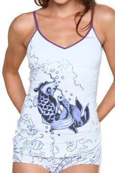 CLICK IMAGE TWICE FOR PRICING AND INFO :) #bra #bras #shelf #shelfbra #shelfbras #womens #intimates  SEE A LARGER SELECTION FOR the shelf bra at http://zwomensbra.com/category/bra-categories/shelf-bra/ -  Koi Ed Hardy KATE Cami with Shelf Bra(WHITE,LARGE) « Z Womens Bra