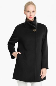 Cinzia Rocca Funnel Neck Wool Coat