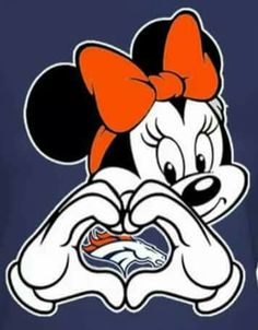 Minnie Mouse loves the Broncos!!                                                                                                                                                                                 More