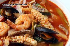 Mì hải sản cay Hàn Quốc 7 cấp độ KIM(mì Jjampong)