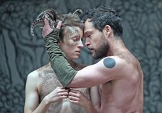 Matthew Tennyson as Puck (left) and John Light as Oberon (right) for The Globe Theatre's production of A Midsummer Night's Dream.
