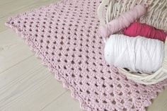 Carpet made of granny square.