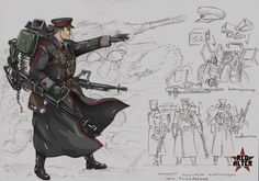 """Spesnaz """"Zhukov"""" concept image - Red Alter mod for Tiberium Wars Armor Concept, Weapon Concept Art, Character Concept, Character Art, Steampunk, Valkyria Chronicles, Alternate History, Red Army, Military Art"""