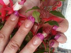 cerise glitter - Nail Art Gallery