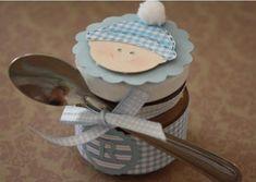 Brigadeiro de colher em potinho decorado da Mélie Artisan de Douces.