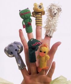 Knitting Patterns Toys Finger Puppets : Assorted Animal Finger Puppets (free pattern) Knitted Critters Pinterest ...