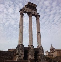 The towering ruins of the Roman forum in #Rome