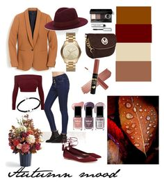 """Autumn set"" by lisaalisa22 on Polyvore featuring мода, Loeffler Randall, J.Crew, Barneys New York, Michael Kors, Londontown, Bobbi Brown Cosmetics и Frontgate"