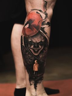 - only best tattoos - . Evil Tattoos, Scary Tattoos, Leo Tattoos, Cool Tattoos For Guys, Badass Tattoos, Future Tattoos, Body Art Tattoos, Sleeve Tattoos, Stephen King Tattoos