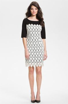 Suzi Chin for Maggy Boutique Lace Overlay Sheath Dress available at Nordstrom