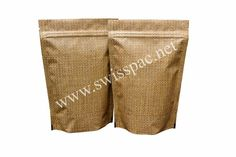 Jute Look High Barrier Bags #StandUpPouch. For more information visit at http://www.swisspac.net/stand-up-pouches/
