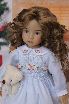 "OOAK Smocked Dress Ensemble for Effner 13"" Little Darling Dolls"