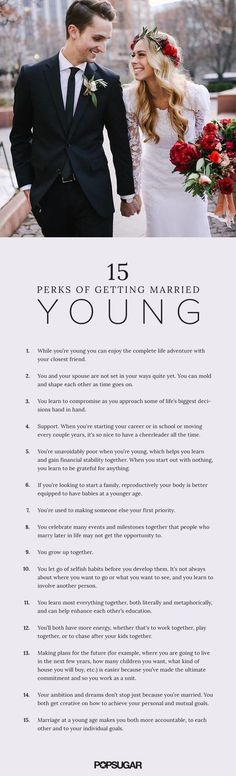 I asked women who married between the ages of 18 and 23 to share what they believe to be the benefits of getting married at a young age and gathered their responses...