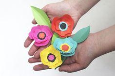 Flowers by Fifi Mandirac Diy For Kids, Crafts For Kids, Arts And Crafts, Diy Paper, Paper Crafts, Diy Crafts, Creative Outlet, Creative Kids, Flower Crafts