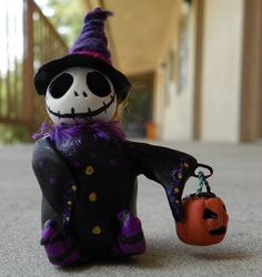 Trick or Treat Skelly by TwoBlueRavens on Etsy, $20.00