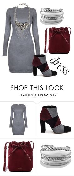 """""""Under 100 winter dress"""" by claudialogan ❤ liked on Polyvore featuring Roberto Festa, Mansur Gavriel, David Yurman and Marc Jacobs"""