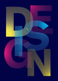 Colourful typography