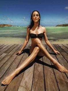"""modelinia: """" Legs for Days - Hilary Rhoda for Madame le Figaro """" Beach Poses, Beach Shoot, Nylons, Photography Poses, Fashion Photography, Editorial Photography, Hilary Rhoda, Le Figaro, Legs For Days"""
