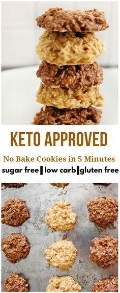 KETO NO BAKE COOKIES IN 5 MINUTES! #Keto #Cookies