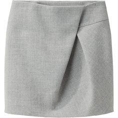 3.1 Phillip Lim Asymmetric Fold Skirt ❤ liked on Polyvore