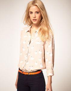 Hair, blouse, belt