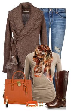Untitled #2794 by nancymcd on Polyvore featuring polyvore, fashion, style, Odd Molly, J.TOMSON, Maison Scotch, Tory Burch, Michael Kors, Contileoni, Bobbi Brown Cosmetics and clothing