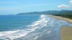 la playa de Olon. Ecuador