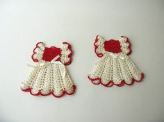 Vintage Crocheted Pot Holders Dress by PassedBy on Etsy, $11.00