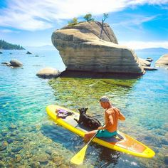Lake Tahoe, USA  Whether you and your pup want some summer or winter fun, Lake Tahoe is enjoyable year round, and is also the largest alpine lake in North America.