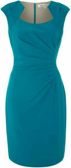 Kenneth Cole ~ Shift Dress with Ruched Side Detail Kenneth Cole ~ Vestido recto con detalle lateral fruncido Pretty Outfits, Pretty Dresses, Beautiful Outfits, Work Outfits, Elegant Dresses, Short Dresses, Dresses For Work, 50s Dresses, Wedding Dresses