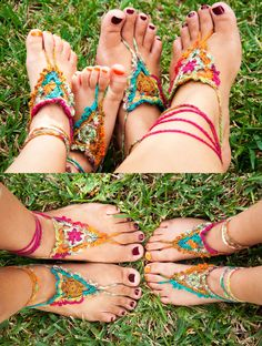 LOVE!!! Found an amazing Crochet Pattern for FREE Goddess Barefoot Sandals thank you so much Julie for making a free option :-) Pattern: http://www.gleefulthings.com/blog/?p=4186