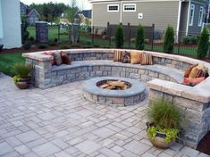 Classy Small Backyard Patio Design Ideas - Page 3 of 67 Fire Pit Seating, Fire Pit Backyard, Firepit Deck, Cozy Backyard, Fire Pit Next To Pool, Paver Fire Pit, Backyard Patio Designs, Backyard Landscaping, Landscaping Ideas