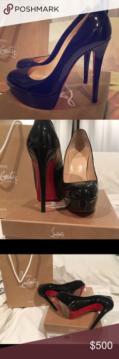 Christian Louboutin Bianca Black Sexy Stilettos These gorgeous shoes have been lightly worn and make you feel amazing! Sadly after two pregnancies I can no longer fit in them. They were originally purchased at South Coast Plaza. I have original bag & box. A great stiletto to have in your collection :) Christian Louboutin Shoes Heels