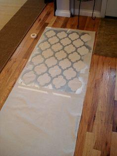 A Stenciled Drop Cloth Rug