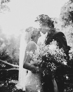 these two + the woods they married in, double exposure.
