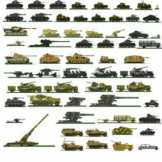 German-Gallery of tanks,  artillery and rail cannons