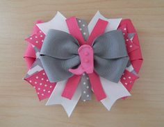 Cowgirl Princess Pink Hair Bow & Clips Set