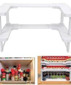 Pure Home Beeswax Polish - Neulons.com Spice Rack Storage, Spice Shelf, Can Storage, Spice Organization, Storage Spaces, Garage Storage, Organizing Ideas, Storage Ideas, Storage Cabinets
