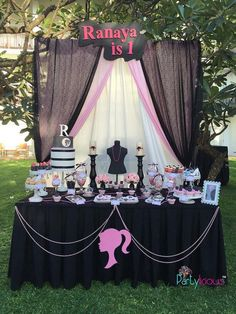 Dessert Table from a Barbie Fashion Birthday Party via Kara's Party Ideas |The Place for All Things Party! KarasPartyIdeas.com (20)