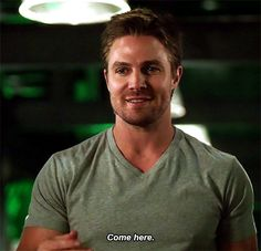 """thatonekimgirl: """" who could resist this? it's no wonder felicity jumped him approximately 30 seconds later. """""""