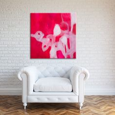 Abstract Painting, Canvas Art, Large Wall Art, Large Abstract Painting, Acrylic Painting, Red Canvas Painting, White, modern painting  SALE - 15% OFF