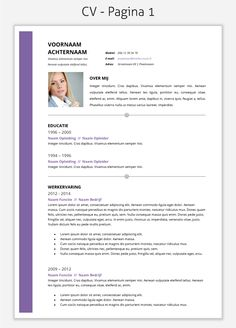 CV template 2015 om te downloaden