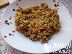 Indické mleté maso s červenou čočkou Grains, Rice, Seeds, Laughter, Jim Rice, Korn