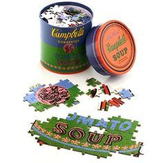 Quebra-cabeça Andy Warhol Campbell's Soup Green 200 peças